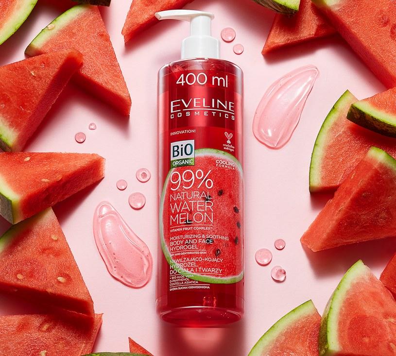 99% Natural Watermelon łagodząco - nawilżający arbuzowy hydrożel do ciała i twarzy od Eveline Cosmetics /INTERIA.PL/materiały prasowe
