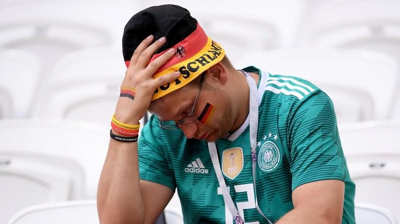 A Germany fan is devastated. /Eurosport