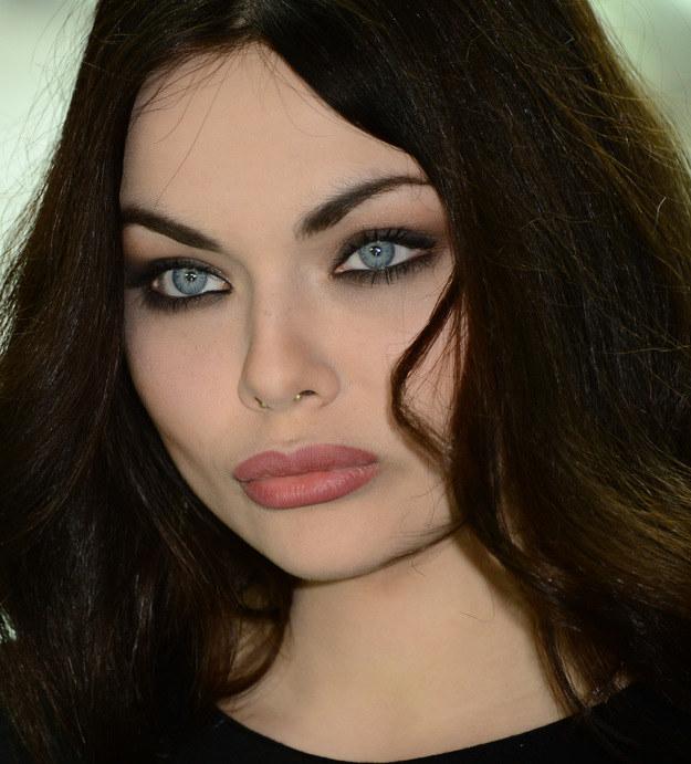 A tak celebrytka wygląda w pełnym makijażu! /Radosław Nawrocki /Agencja FORUM