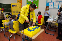 A tak uczniowie z Kluczborka dziękowali RMF FM za akcję Lepsze Jutro