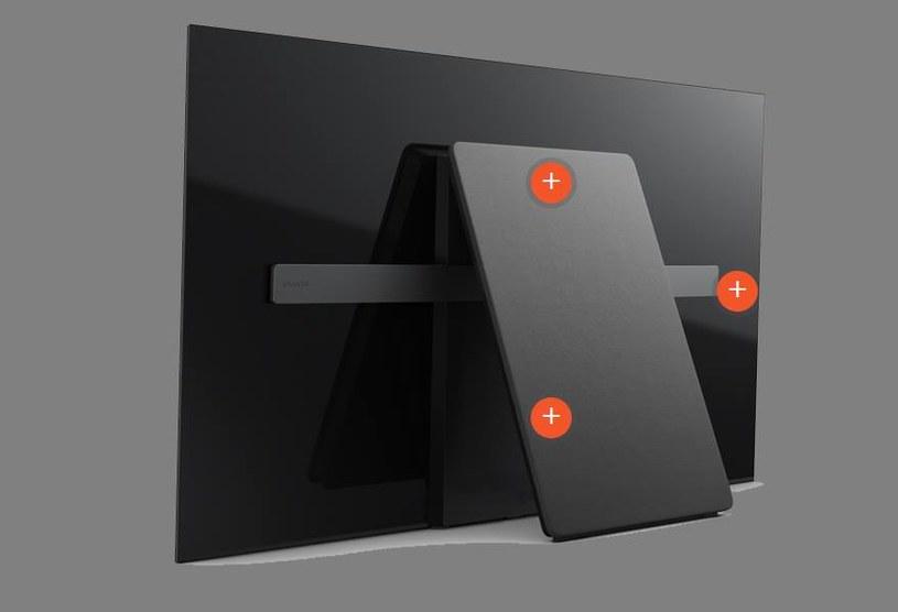 A1 OLED - tył telewizora rzeczywiście jest nietypowy /materiały prasowe