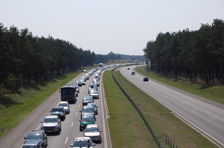 A1 w Nowej Wsi w sobotę wczesnym popołudniem /Paweł Balinowski /RMF FM