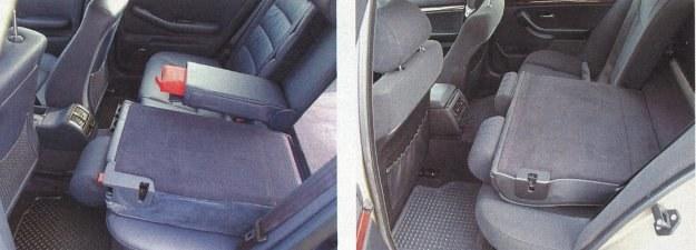 A6 i BMW 5 to dość długie auta, a dzięki temu pasażerowie tylnych siedzeń mają sporo miejsca. Oparcia siedzeń rozkłada się bez trudu i dopiero wtedy bagażniki obu aut stają się imponujące. Oczywiście, gdy nie ma kraty oddzielającej przestrzeń ładunkową. /Motor