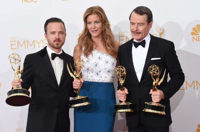 Aaron Paul, Anna Gunn, Bryan Cranston, /Jason Merritt /Getty Images