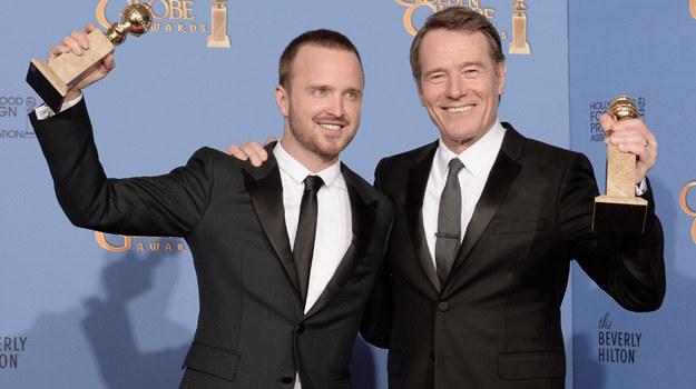 "Aaron Paul i Bryan Cranston - odtwórcy głównych ról w serialu ""Breaking Bad"" /Kevin Winter /Getty Images"
