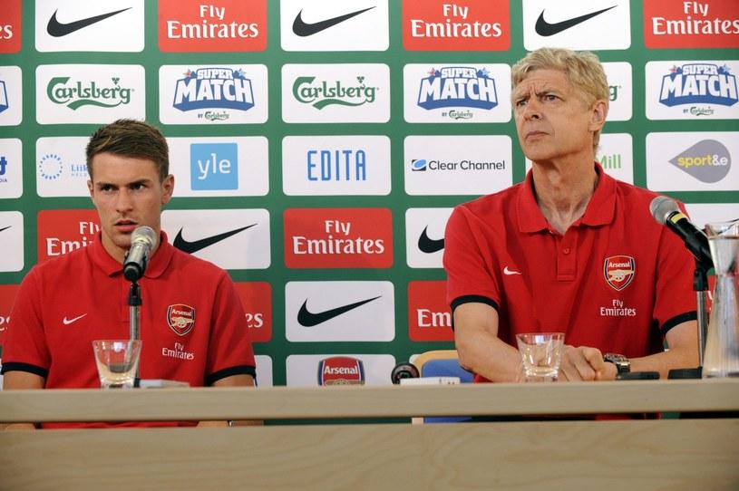 Aaron Ramsey i Arsene Wenger /AFP