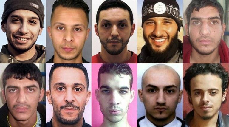 Abdelhamid Abaaoud, Brahim Abdeslam, Samy Amimour, Omar Ismail Mostefai, Foued Mohamed Aggad, Bilal Hadfi, Salah Abdeslam, Mohamed Abrini i dwaj niezidentyfikowani mężczyźni /AFP