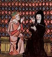 Abelard i Heloiza, miniatura z manuskryptu z XIV w. /Encyklopedia Internautica