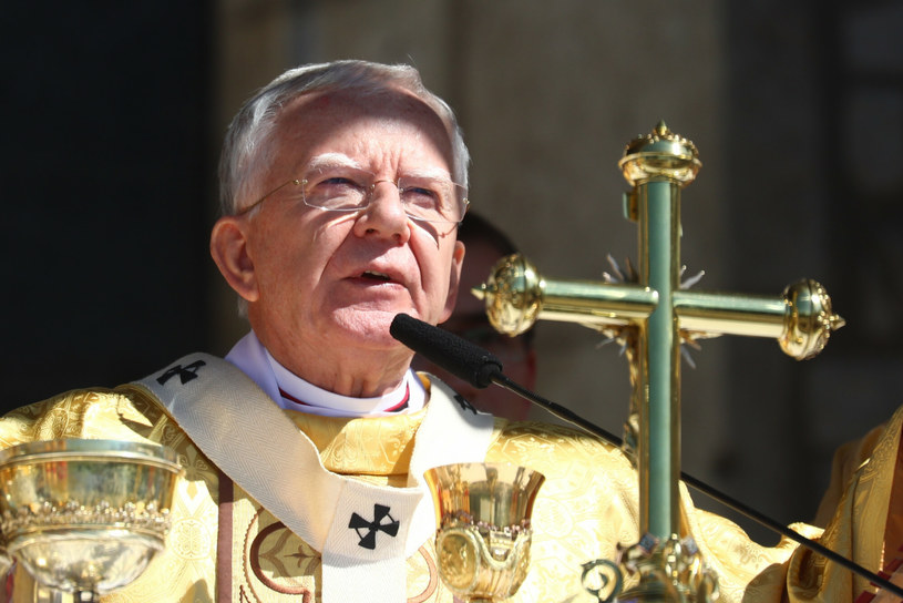 Abp Marek Jędraszewski podczas uroczystości Bożego Ciała /Beata Zawrzel /Reporter