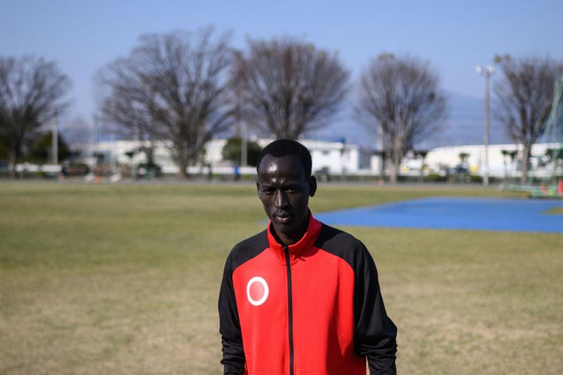 Abraham Guem jest jednym z Sudańczyków trenujących od dłuższego czasu w Japonii /PHILIP FONG/AFP/East News /East News
