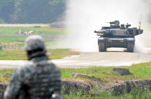 Abrams M1A2 podczas wspólnych ćwiczeń amerykańskiej i południowokoreańskiej armii /AFP
