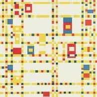 Abstrakcja geometryczna, Piet Mondrian, Broadway Boogie Woogie, 1942-43 /Encyklopedia Internautica