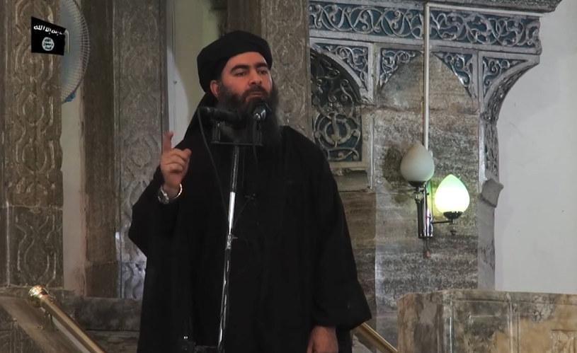 Abu Bakr al-Bagdadi, zdjęcie wykonane w 2014 roku /AFP