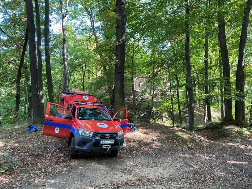 Aby pomóc poszkodowanemu 13-latkowi, ratownicy z Wałbrzycha ruszyli w trudno dostępny teren w Sudetach /Facebook/Grupa Sudecka GOPR /Archiwum