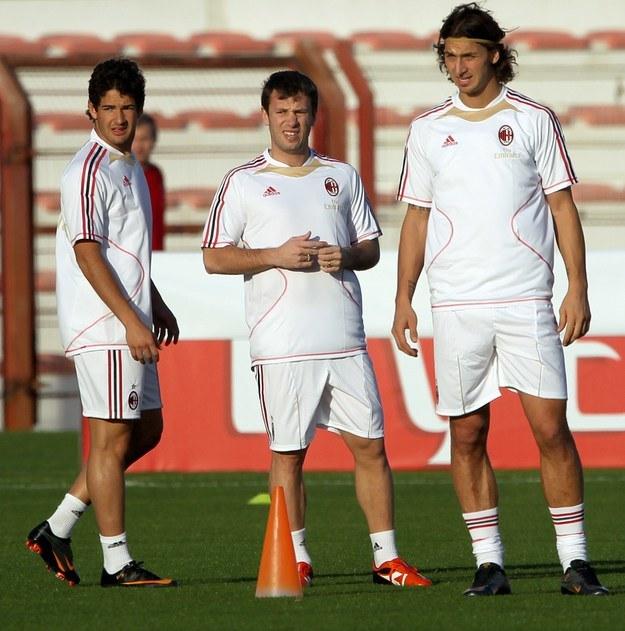 Aby zatrzymać Ibrahimovicia, Milan będzie musiał sprzedać Pato (z lewej) lub Cassano (w środku) /AFP /AFP