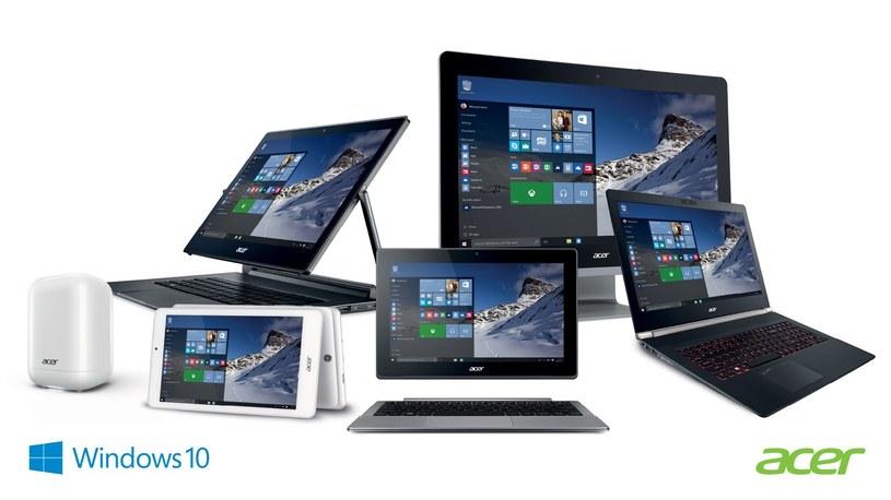 Acer aktualizuje swoje sprzęty w Windows 10 /materiały prasowe