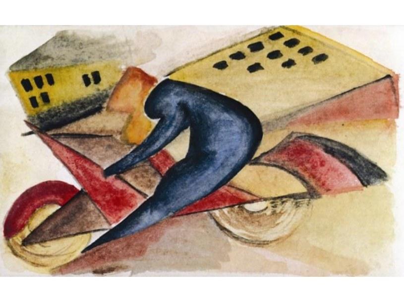 Achille Funi, Motociclista + case, 1914 r.  /materiały prasowe