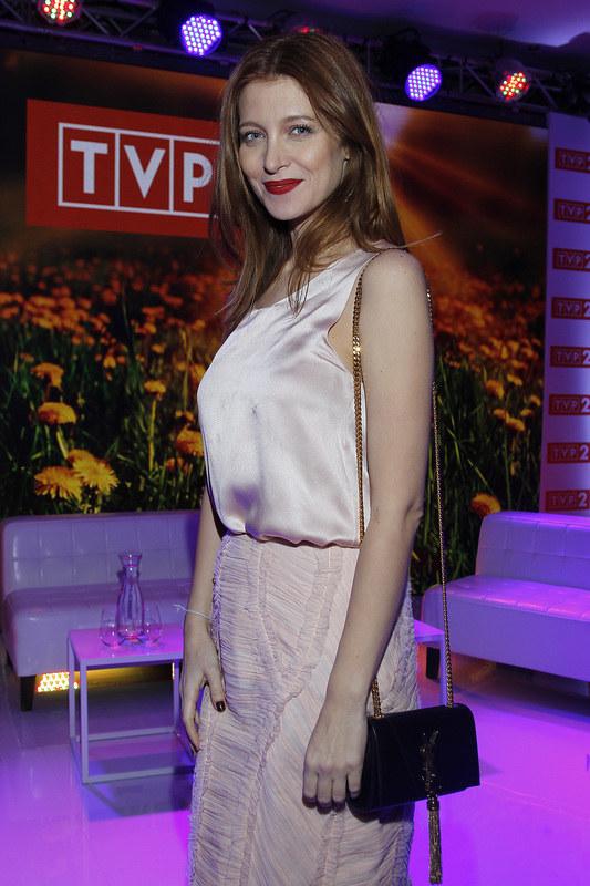 Ada Fijał podczas prezentacji wiosennej ramówki TVP. /Krzemiński Jordan /AKPA