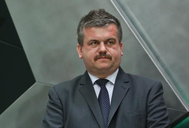 Adam Andrzej Konieczkowski, prezes Hollywood Textile Service, w czasie debiutu na NewConnect /PAP