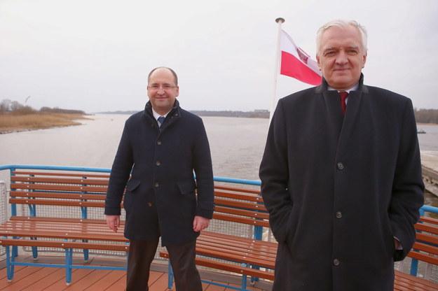Adam Bielan i Jarosław Gowin /Piotr Augustyniak /PAP