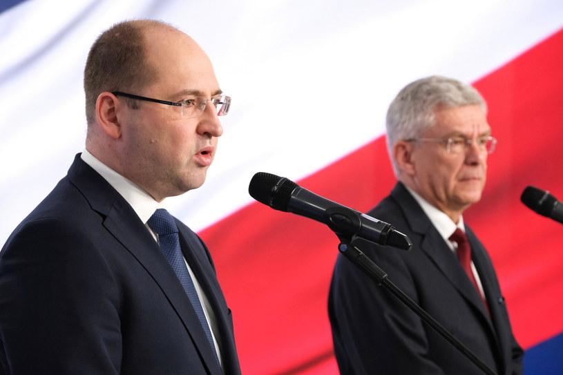 Adam Bielan i Stanisław Karczewski /Mateusz Marek /PAP