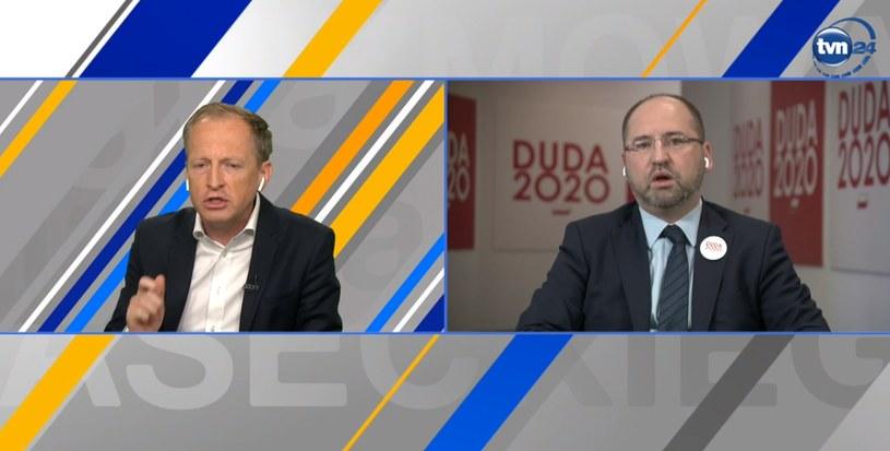 Adam Bielan u Konrada Piaseckiego /TVN24