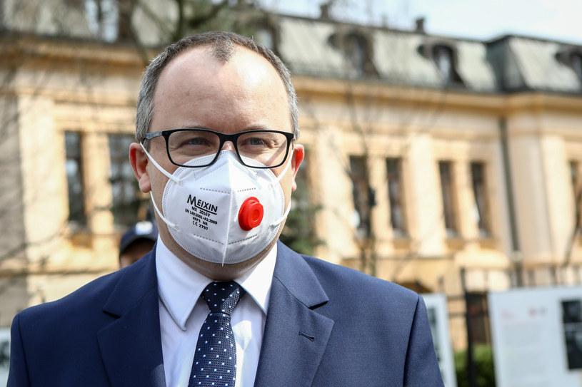 Adam Bodnar przed siedzibą Trybunału Konstytucyjnego /Tomasz Jastrzebowski/REPORTER /Reporter