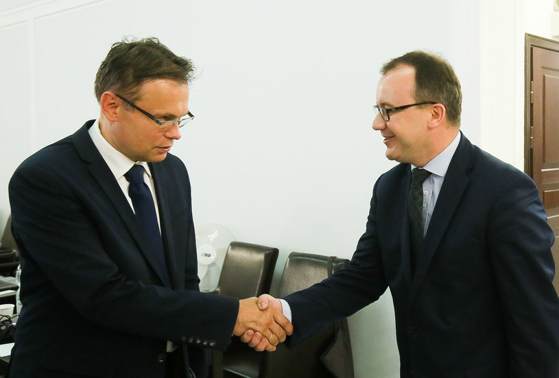 Adam Bodnar (z prawej) i Arkadiusz Mularczyk /Paweł Supernak /PAP
