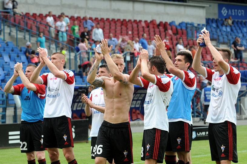 Adam Danch (w środku) poprowadził zabrzan do zwycięstwa /Joanna Żmijewska /INTERIA.PL