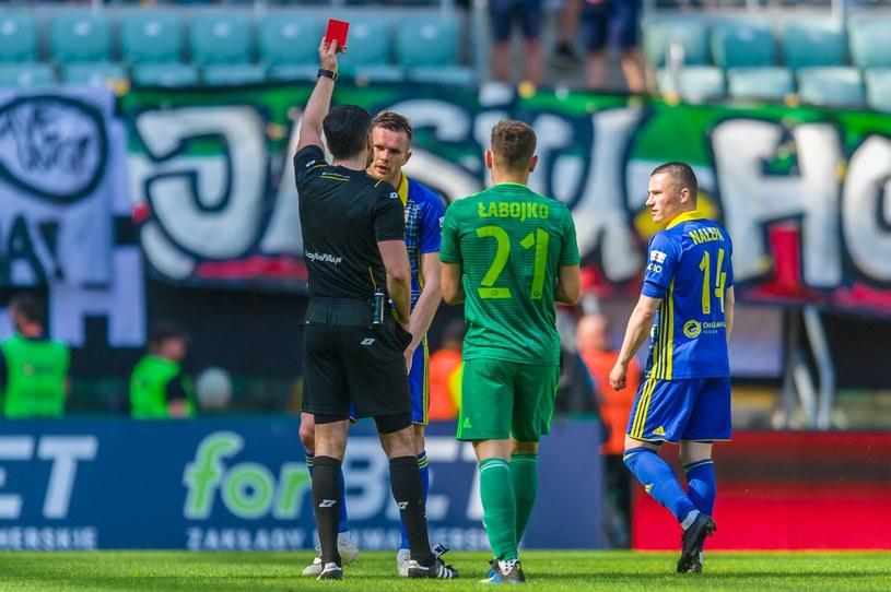 Adam Deja obejrzał czerwoną kartkę w meczu ze Śląskiem Wrocław /Maciej Witkowski/REPORTER /
