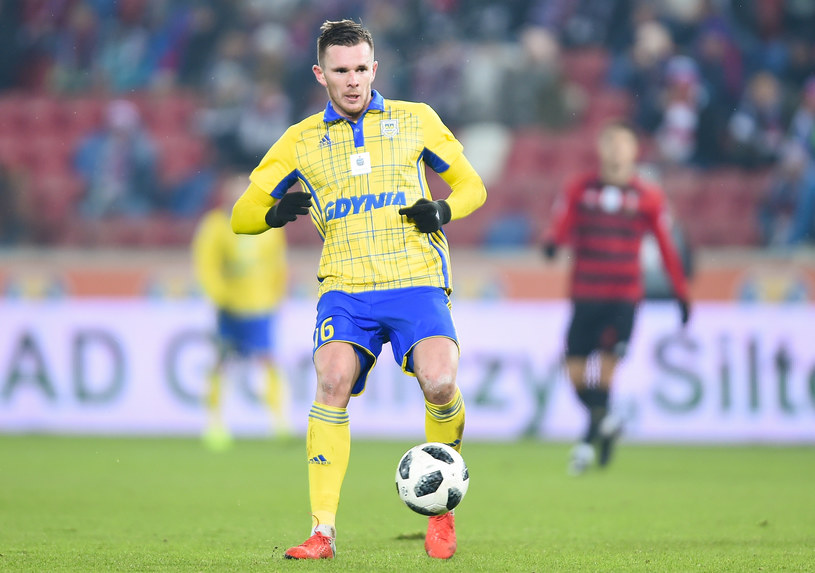 Adam Deja zdobył jedną z bramek dla Arki /Łukasz Sobala /Newspix
