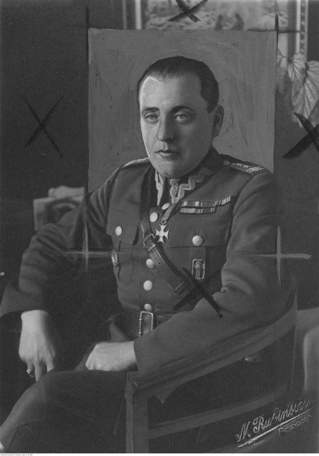 Adam Gajewski służył w batalionie dowodzony przez późniejszego generała Stanisława Maczka (na zdjęciu) /Z archiwum Narodowego Archiwum Cyfrowego