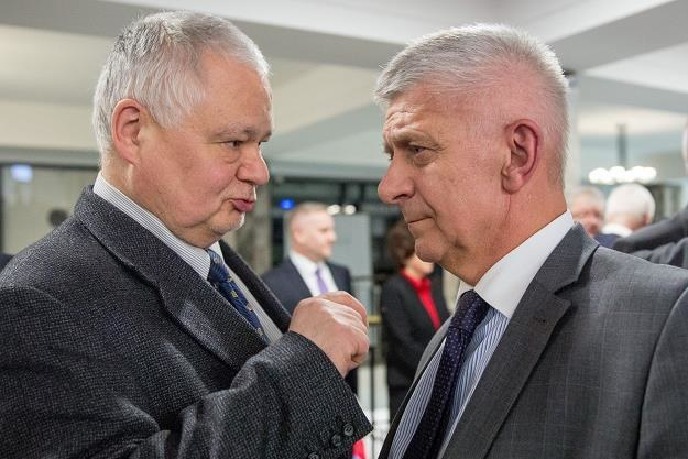 Adam Glapiński (z lewej) i Marek Belka. Fot. Andrzej Iwańczuk /Reporter