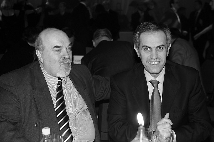 Adam Halber i Zygmunt Solorz /- /AKPA