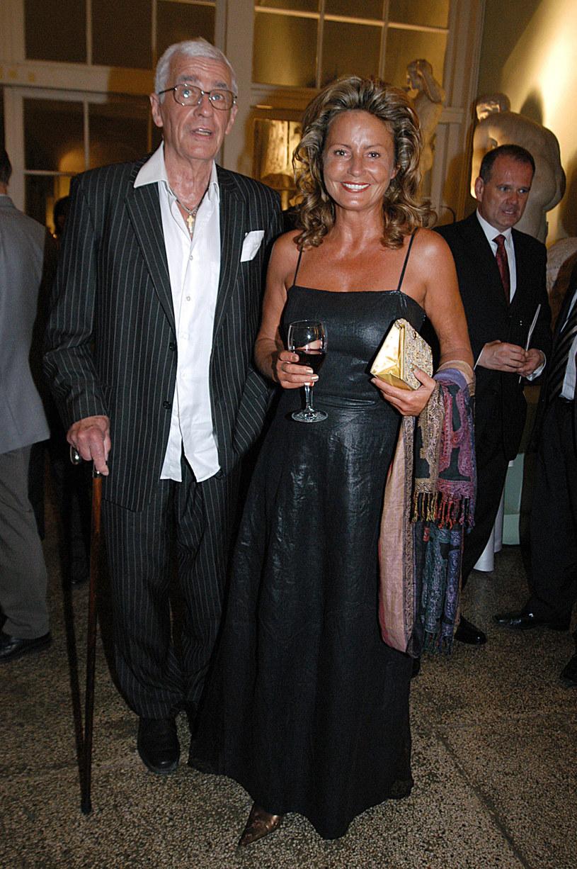 Adam Hanuszkiewicz i Magdalena Cwenówna, 2005 rok /Mikulski /AKPA