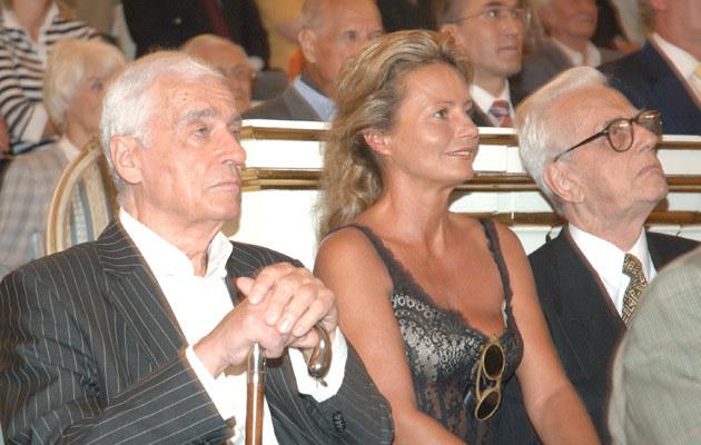 Adam Hanuszkiewicz z żoną Magdą Cwenówną, 2005, fot.Radosław Nawrocki  /Agencja FORUM