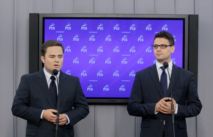 Adam Hofman i Mariusz Antoni Kamiński /Paweł Supernak /PAP