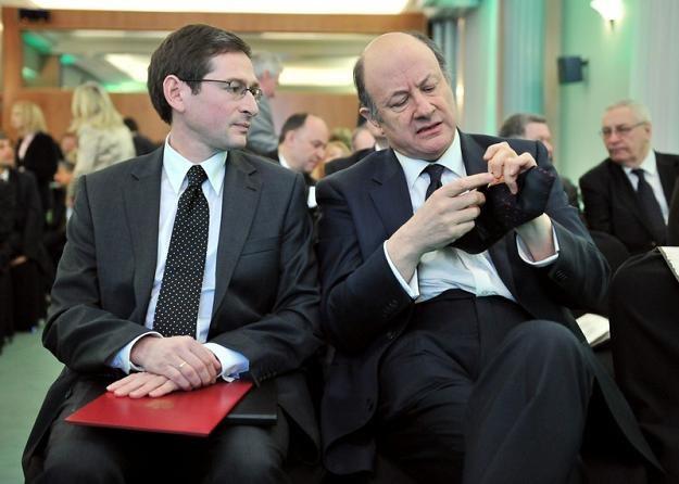 Adam Jasser (L) i Jacek Rostowski, minister finansów RP. Fot. Piotr Blawicki /Agencja SE/East News