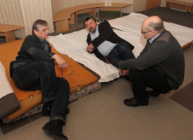 Adam Kalita (C), Leszek Jaranowski (L) i Grzegorz Surdy (P)/fot. J. Bednarczyk /PAP