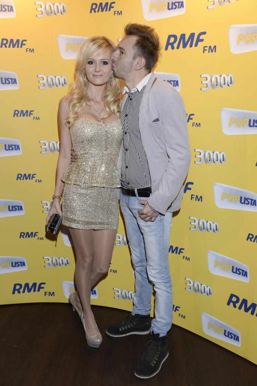 Adam Konkol wraz z żoną /Tricolors /East News