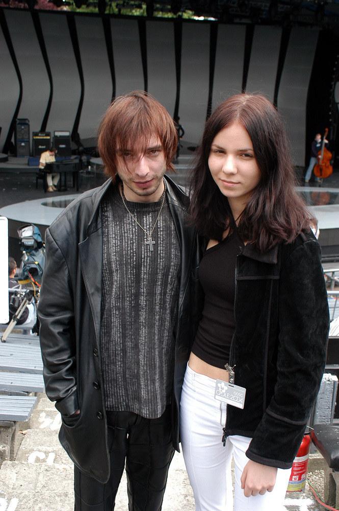 Adam Konkol z żoną - 2004 r. /Zawada /AKPA