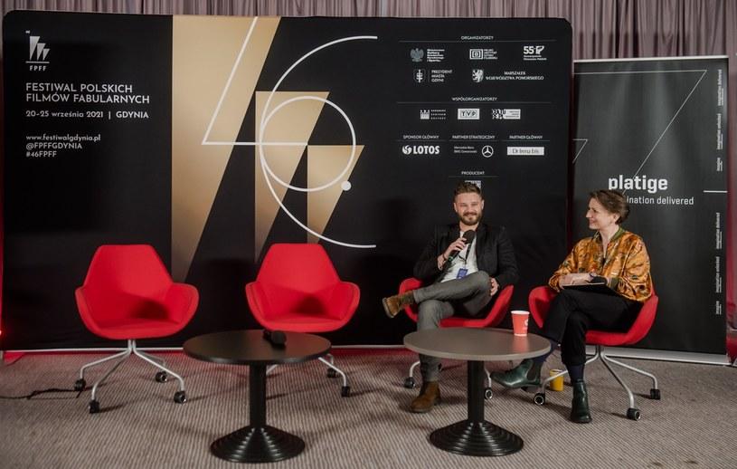 Adam Korpak z Platige Image i prowadząca Katarzyna Borowiecka - pitching komiksowy w ramach festiwalu w Gdyni 2021 /materiały prasowe