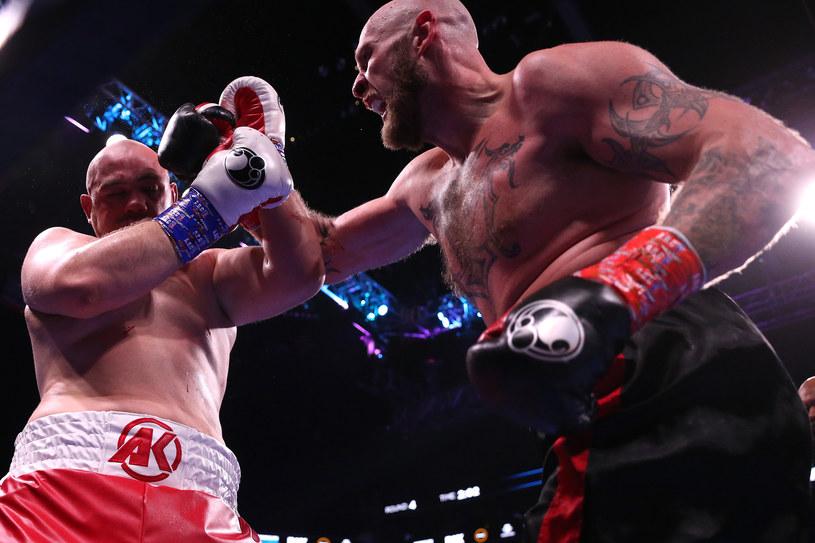 Adam Kownacki w pojedynku z Robertem Heleniusem /Michael Owens /Getty Images