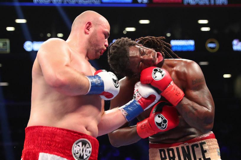 Adam Kownacki w walce z Charlesem Martinem /Getty Images