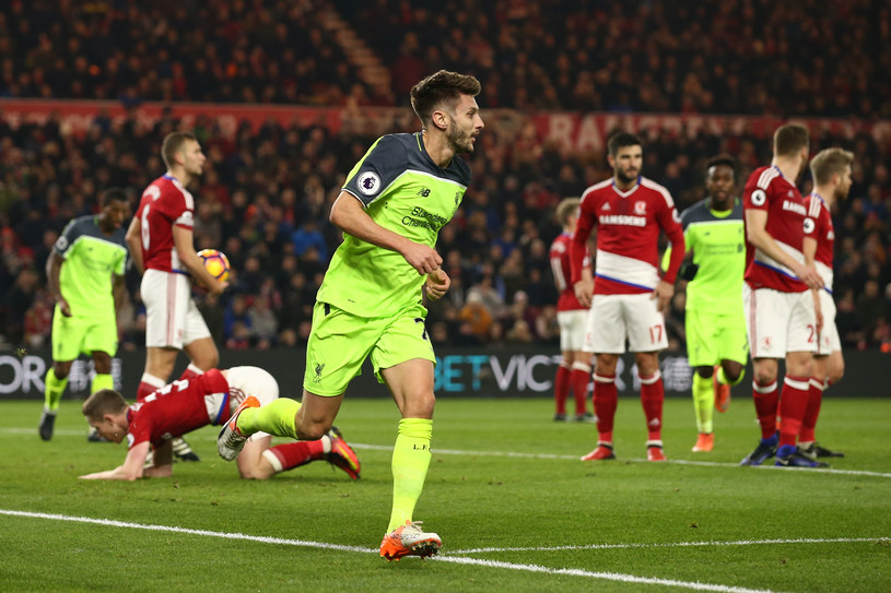 Adam Lallana (na pierwszym planie) bohater meczu Middlesbrough - Liverpool /Jan Kruger /Getty Images