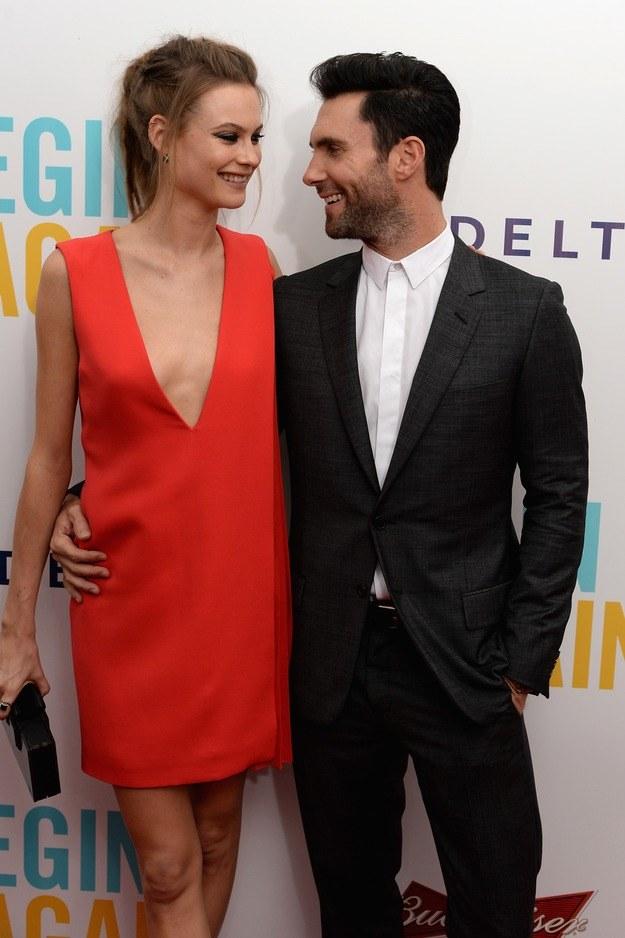 Adam Levine i Behati Prinsloo /Getty Images