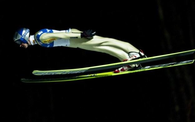 Adam Małysz na skoczni w Lillehammer /AFP