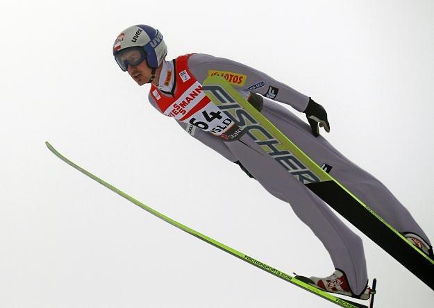Adam Małysz na skocznie w Oslo /PAP/EPA