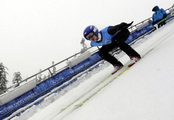 Adam Małysz na treningu w Whistler /AFP