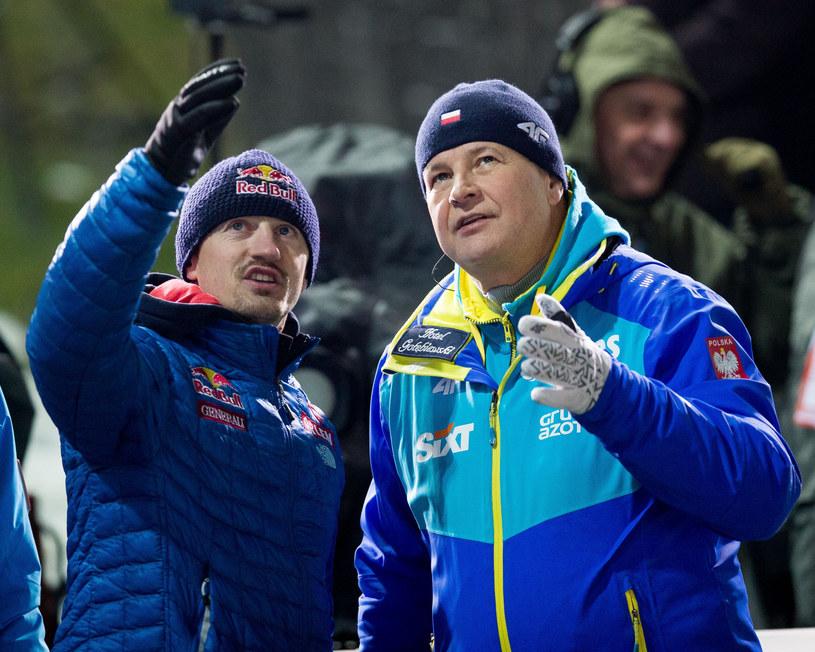 Adam Małysz oraz Apoloniusz Tajner /fot. Andrzej Iwanczuk/REPORTER /